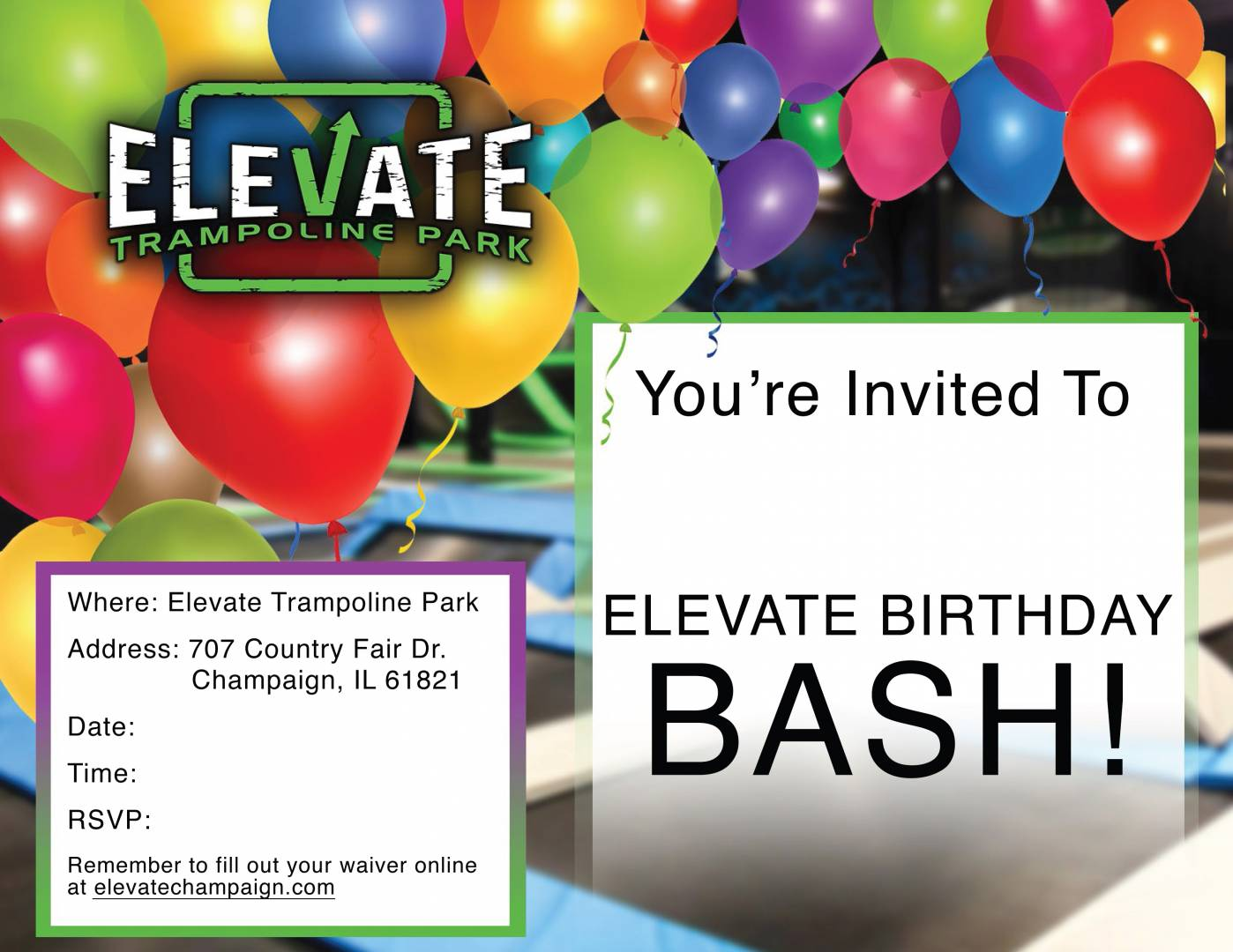 Elevate Birthday Flyer - Champaign